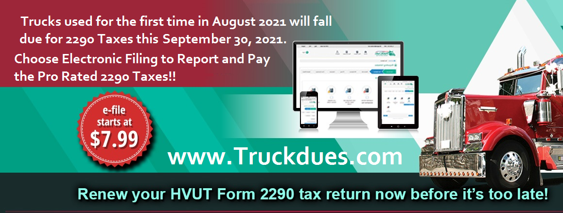 Truck  Tax Form 2290 eFile